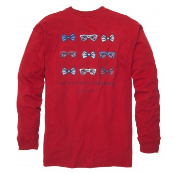 Go A Little Overboard- Madras Red Long Sleeve
